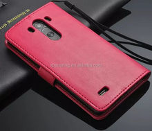 phone case PU Wallet Stand Flip Cover Case for LG G3