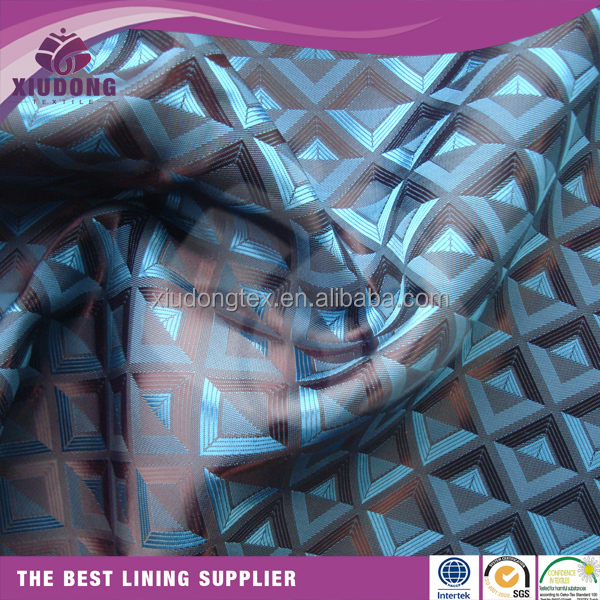 Ready goods poly jacquard dobby t/r polyester viscose lining fabric for suits garment