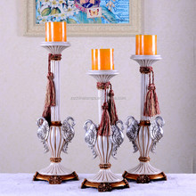 brass and white traditional traditional swan polyresin candle holder