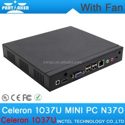4G RAM 512G SSD Intel Celeron C1037U 1.8Ghz 1* LAN 4*USB High Quality Mini Desktop PC Case