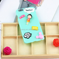 2016 3d case with lovely cartoon back cover for oppo r827