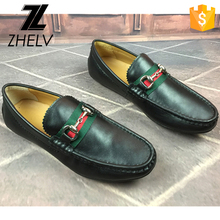 Famous italian shoe brands fashion genuine leather high quality luxury casual boat moccasin shoes for men