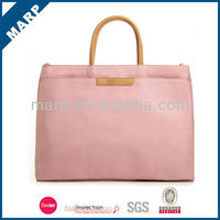 High quality stylish pink polyester ladies laptop bag