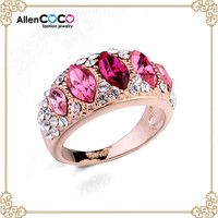 Wholesale price Zircon ring with queen crown ring for women italina Rigant rings