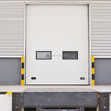 Insert track design automatic door with air bag safety device