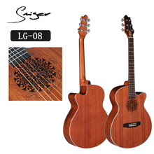 LG-08 40 inch 6 strings acoustic guitar cutaway carving sound hole new design made in china
