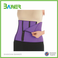 4 Zippers Wrap slimming Belt Belly Fitness Body Wrap Shaper Sauna Belt for Men Women