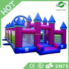 2014 new design inflatable bouncy castle,air jumping bouncer,inflatable combo slide bouncer