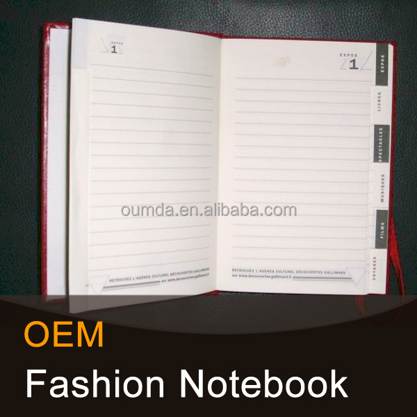 High quality customized notebook filler paper