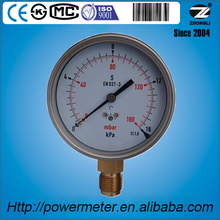 YE-100A 100mm stainless steel case bottom type connection 16KPa capsule pressure gauge with Zero hole manometer gauge