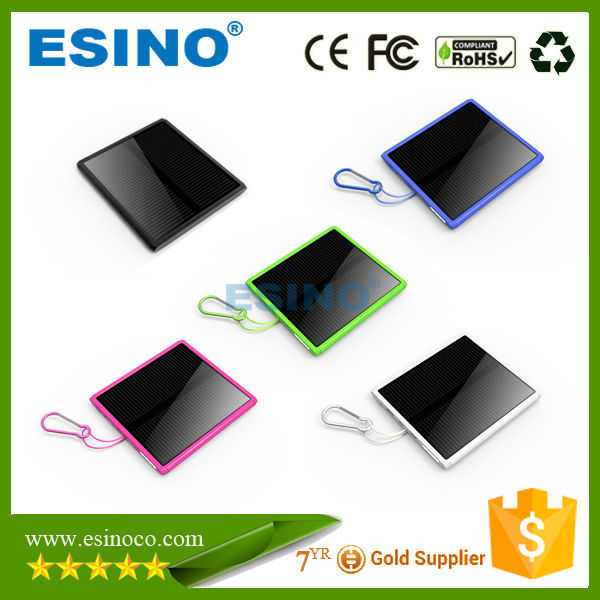 2015 hot sale new product 15000mAh external solar powerbank,emergency backup power aupply for smartphone
