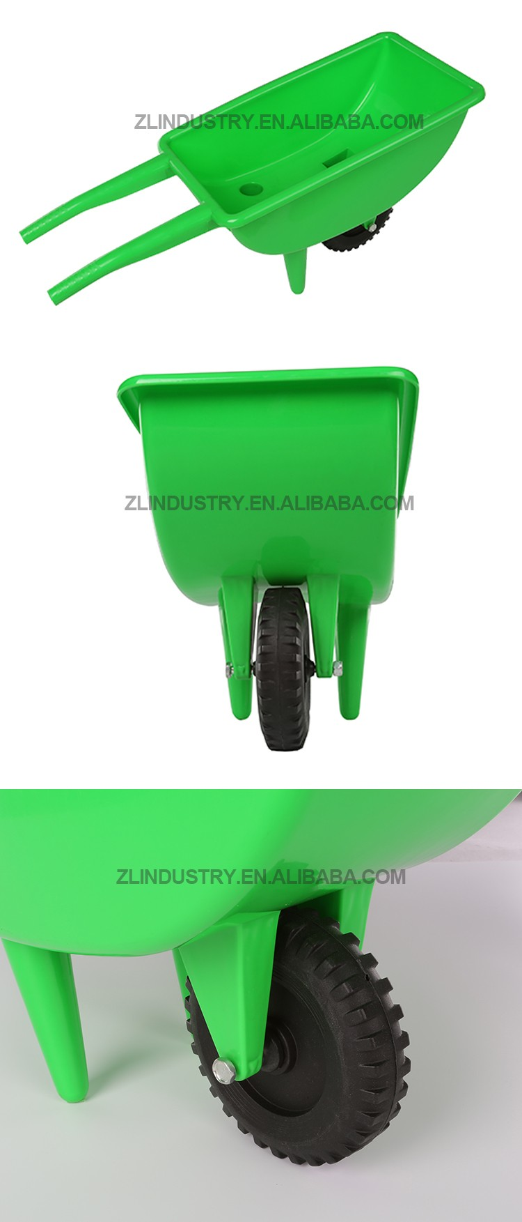 Professional manufacture cheap outdoor kids plastic wheel barrow