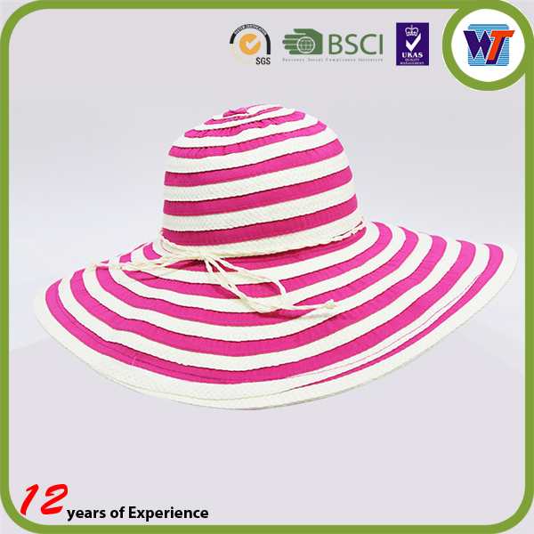 Wholesale Summer Women Foldable Straw Boater Cap Hat