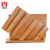 Natural solid bamboo vegetable cutting bread board set with stand