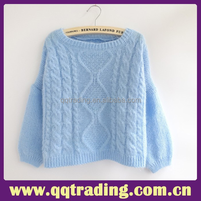 2015 Good wool yarn warm winter knitting crochet cheap sweater