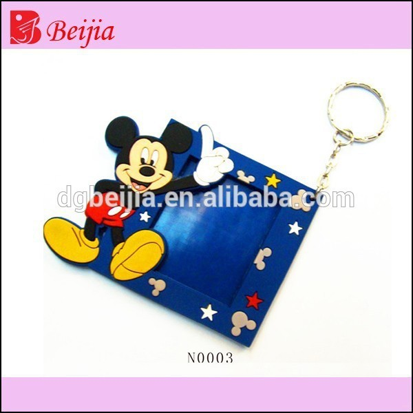 China Factory Popular Design Soft PVC Rubber Mickey Mouse Picture Frames
