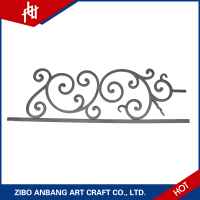 The wrought iron railings and cheap metal fencing used the forged steel ornaments for sale