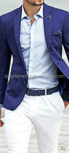 Elegante royalblue urban men estilo custom men suit