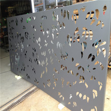 Customized stainless steel decorative garden fence privacy metal outdoor screen panels partition walls