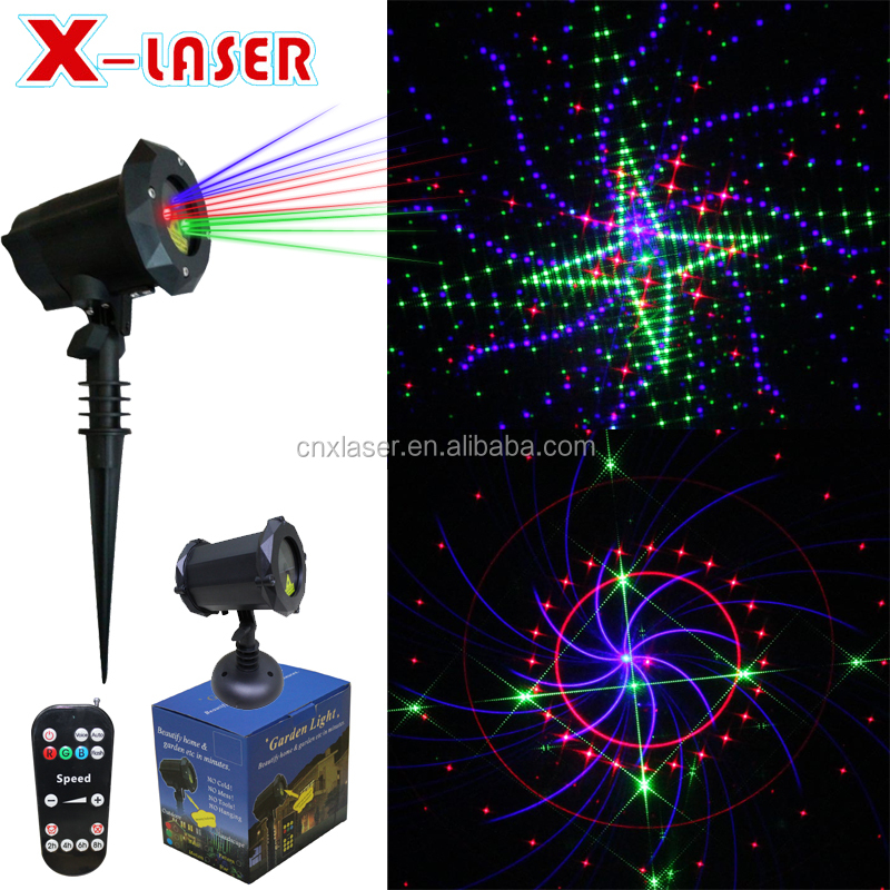 2018 hot sale outdoor decoration light with 16 image RGB firework laser projector for party,house, tree