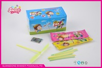 CC fruit flavor stick with toy and puzzle