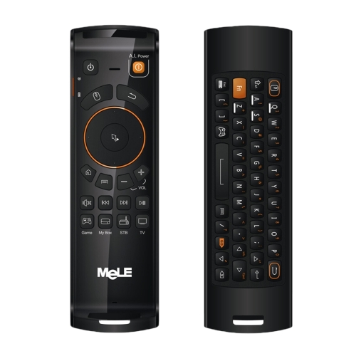 Mele F10 Deluxe 2.4GHz Fly Air Mouse Wireless QWERTY Keyboard Remote <strong>Control</strong> with IR Learning Function for Android TV Box