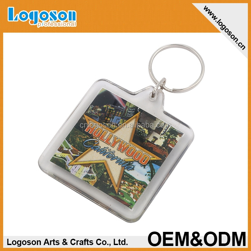 Customized promotion cheap digital photo acrylic keychain