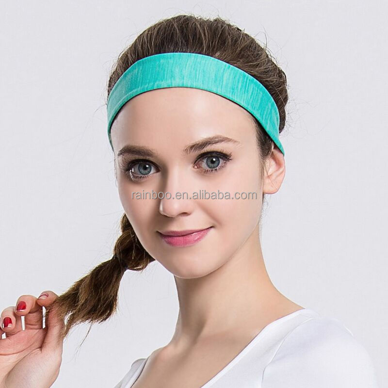 Hot selling cheap price comfortable customized logo nylon yoga headband