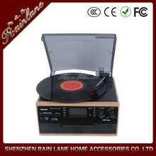CD turntable player,mp3 encoding vinyl player,CD recording turntable with cassette and radio