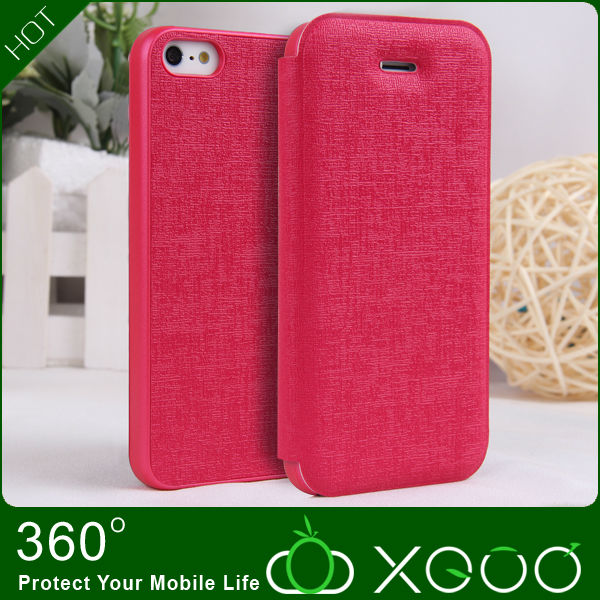 Oracle lines pattern style phone case pu leather fits for iphone5