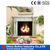 White marble stone carving fireplace