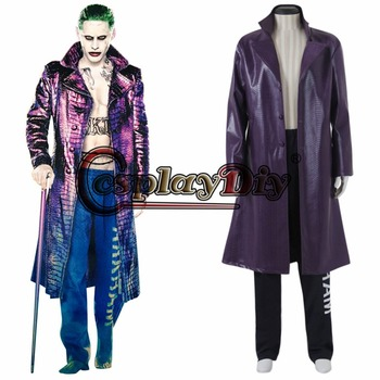 Suicide Squad Clown Adult Men Halloween Cosplay Costume Custom Made