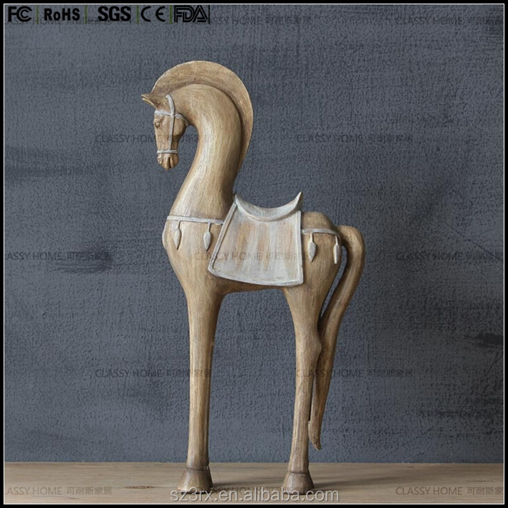 custom only:6 inch resin horse sculpture,vintage style horse grey color for collection and home decoration resin supplier