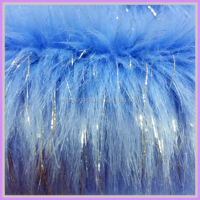 long pile faux lurex craft fur fabric