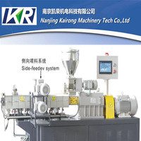 twin screw plastic mini granulator extruder machine
