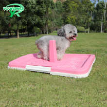 Square pet fence toilet mobile indoor dog pet toilet tray With Pillar Fence Male Dog