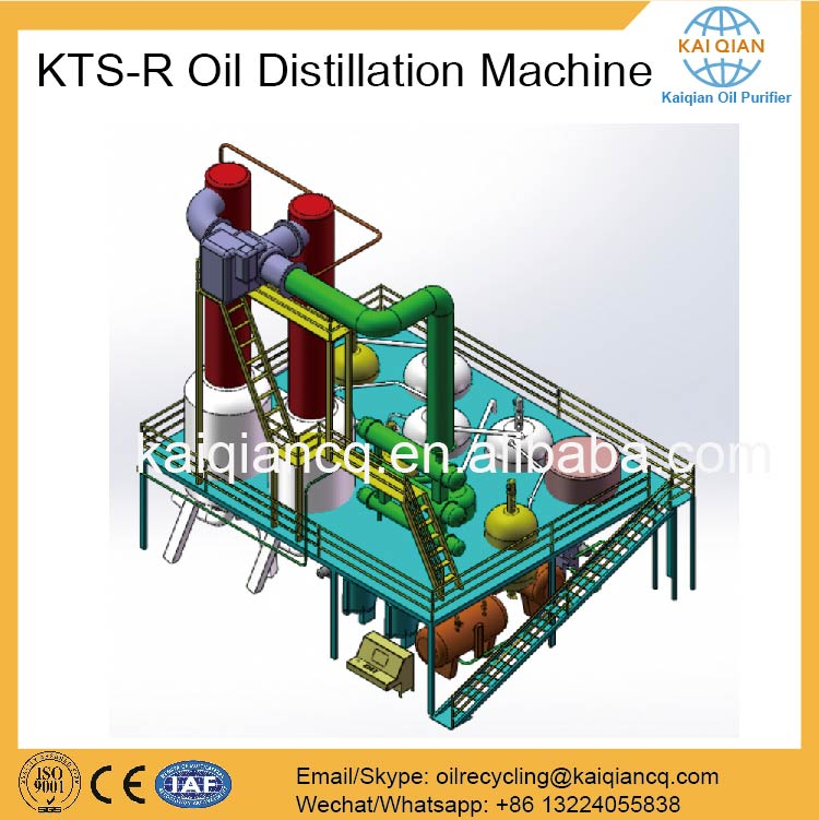 Continuous used lube oil recycle equipment