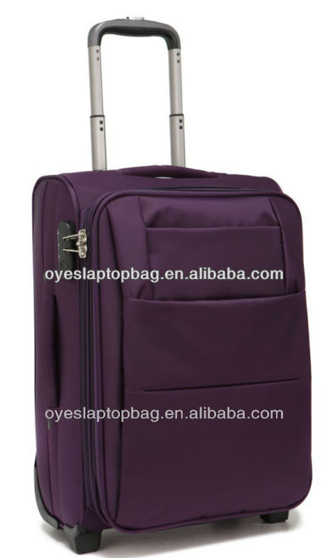 purple 1680D high class wholesale leisure luggage company brands list