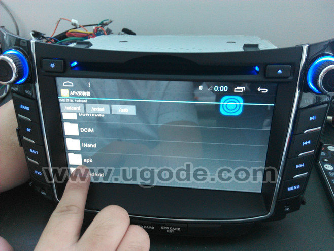 ugode U9 Android HD WIFI 3G Hyundai I30 Car DVD GPS Navigation System
