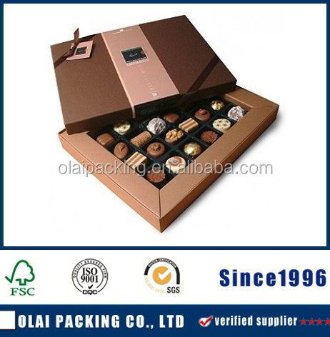 Customized decorative sweet candy packaging chocolate boxes wholesale