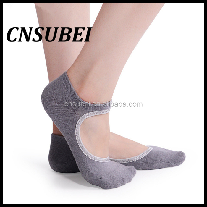 Professional ankle backless sexy women ballet design non-slip yoga socks for lady pilates
