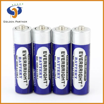 Wide usage r6 aa not rechargeable battery for radios, clocks, and flashlights