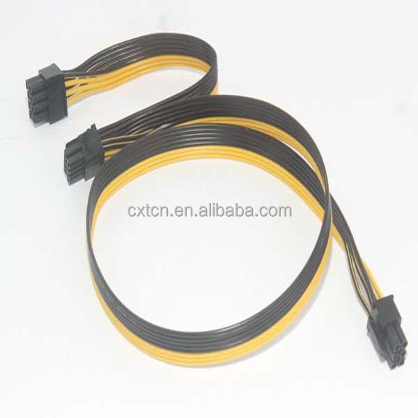 60cm PCI-Express PCIe 6pin male to Dual 8pin(6+2) male cable