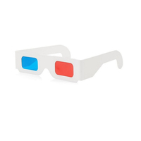 Promotional 3d paper glasses, red cyan paper glasses