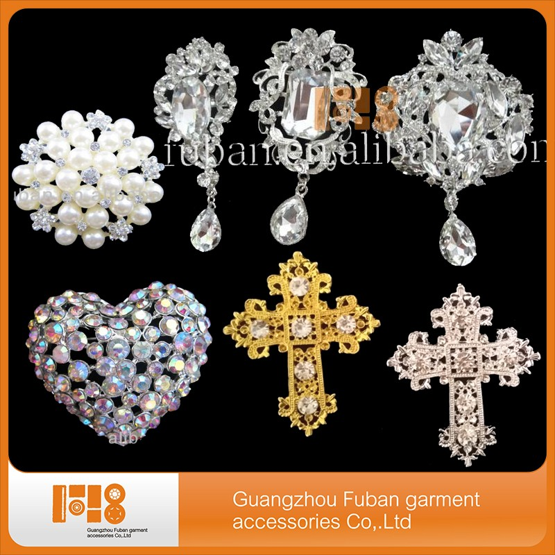 fashion jewelry cheap bridal crystal rhinestone brooch Wedding brooch in bulk