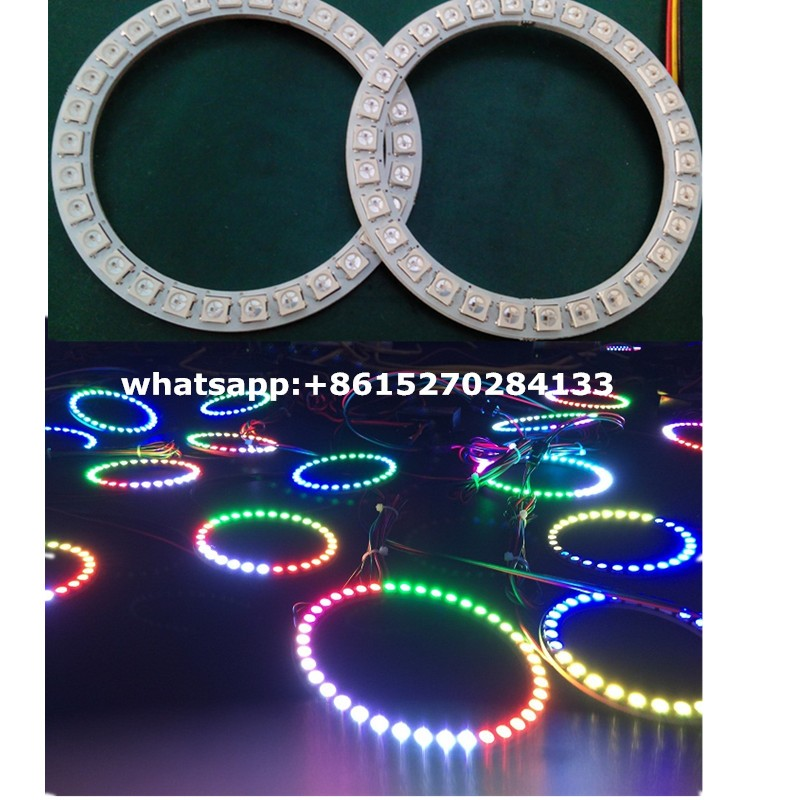 Furious 7 rgb color halo rings led angel eyes 40mm~200mm available