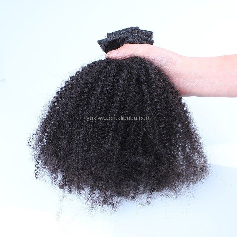 2017 The most African looking Virgin Kinky Curly Style 100g Kinky Curly Weft