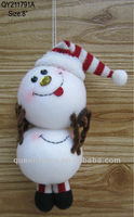 2013 new design christmas snowman hangings decoration