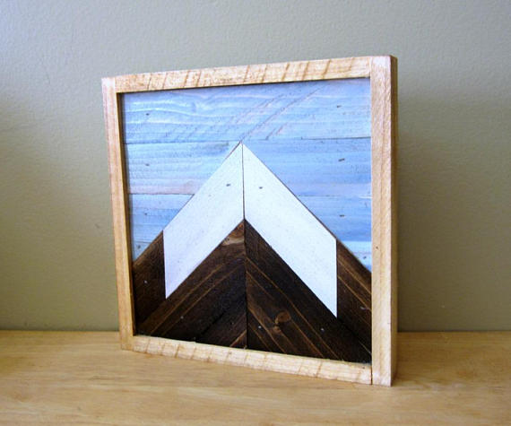 Mountain Peak Wood Small Wood Art
