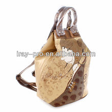 AFY-24 symbolic design cheap school leather backpack bags